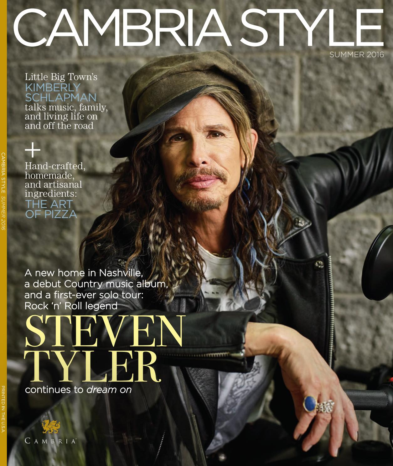 Steven Tyler On The Cover Of Cambria Style Summer 2016