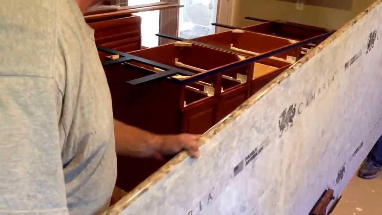 installing a cambria countertop